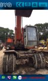 Ruedas usada Excavadora Hitachi Ex160wd, Japón utiliza la excavadora de ruedas