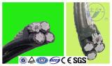 Câble d'alimentation supplémentaire empaqueté aérien 3X70 mm2+54.6 mm2+16 mm2 de câble de câble d'ABC