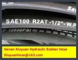 Umsponnener flexibler Gummischlauch-hydraulischer Schlauch