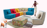 Combinazione libera per il sofà elegante del tessuto impostato con l'ottomano