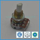 potentiomètre rotatoire de 16mm avec le commutateur avec l'arbre de tonnelier pour le climatiseur de véhicule