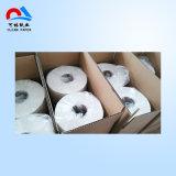 Roulis blanc de tissu de toilette
