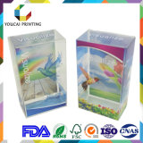 Compacto plástico transparente visualizado de gama alta con la impresión doble de las tallas