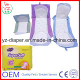 Garnitures sanitaires ultra minces de fournisseur de la Chine avec des ailes