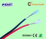 Excellent câble clair transparent de haut-parleur isolé par PVC
