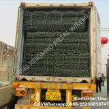 80X100mm, 2mx1mx1m Galvanized Gabion Basket / Gabion Stone Basket (XM-VB)