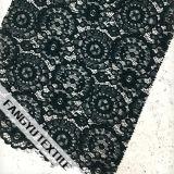 円ギヤ綿のナイロンゆがみの編むレース