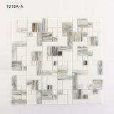 Vidrio blanco y gris cortado mano del BALNEARIO de los kits de los azulejos de mosaico