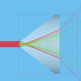 [جي] مروحة زاوية 5-130 درجة ليزر خطّ مولّد باول عدسة