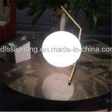 Lâmpada de tabela extravagante moderna decorativa da esfera de vidro de lâmpada de mesa para o quarto