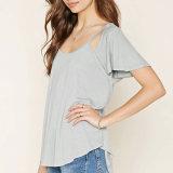 La Crosst-Camisa posterior ocasional del ocio de las mujeres de la manera arropa la blusa