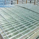 La INMERSIÓN caliente galvanizó la reja fabricada para la plataforma de la estructura de acero