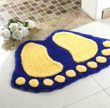 Forme en nylon d'impression de pied d'empreinte de pas de Microfiber pp de polyester acrylique/couvre-tapis Shaped de toilette de douche de Bath