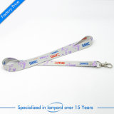 Écran 3D promotionnel Imprimé Polyester Purple Card Lanyard