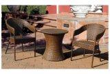 Mobilia del rattan di colore del Brown che pranza insieme per il balcone