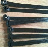 3 x 100 ataduras de cables de nylon del milímetro - atadura de cables inoxidable del bloqueo de la placa de acero