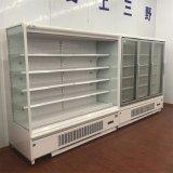Supermarkt-Luftkühlung-geöffneter Bildschirmanzeige-Kühlraum mit Cer