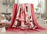 Cobertor profissional com o cobertor polar do velo da flanela coral tranqüila da borda
