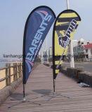Рекламировать флаг Поляк пляжа Поляк флага FRP/Fiberglass