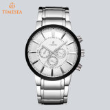 Chronographe Luxury Steel Man Watches Analog Quartz Bracelet Regarder72365