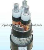 Câble d'alimentation à plusieurs noyaux d'Al, fil d'acier Yjlv33 blindé