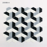 Europa Building Wall Black and White Glass Mosaic Floor Tile