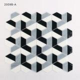 Italien-Entwurfs-weiße und schwarze Kunst-Fliese-Badezimmer-Glas-Mosaik