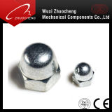 Kohlenstoffstahl-Grad 4 verzinkte Abdeckung-Kapselmutter DIN1587 des Hexagon-6 8 10 12