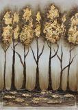 Peinture à l'huile colorée étonnante d'art de mur avec de l'or peint