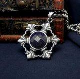 Estilo de acero Titanium pendiente de los pares del collar cristalino de la joyería de la manera