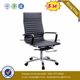 Silla de cuero Hx-801b de la oficina del metal del cromo de la silla del encargado de la parte posterior del centro