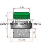Tipo interruptor del metal de pulsador de 6-380V