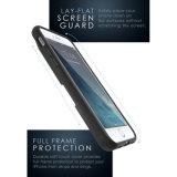 Caja de la carpeta de textura Lados TPU con tarjeta de pata de cabra para Samsung-C9-PRO
