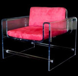 최신 판매 신식 명확한 아크릴 플라스틱 유리 가구 의자 기초