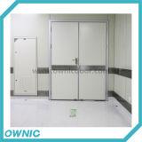 Dobro manual da porta de balanço aberto para corredores, quartos de operação