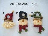 Decoración de la Navidad del tirador del muñeco de nieve de Santa, 3asst.