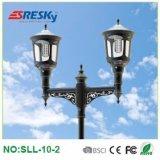 Lumières solaires de poste d'horizontal de lampe du fournisseur DEL de la Chine de la norme ISO9001