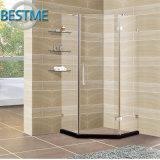 Cerco sanitário novo do chuveiro da dobradiça de Frameless da forma do diamante dos mercadorias para o banheiro (BL-F3501)