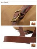Qualitäts-Segeltuch-echtes Leder-Griff-Düffel-Wochenenden-Beutel (RS2095A)