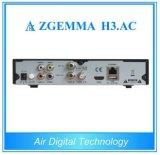 공기 디지털 Zgemma H3. AC FTA IPTV 상자 리눅스 OS Enigma2는 쌍둥이 조율사 코어 DVB-S2+ATSC 이중으로 한다