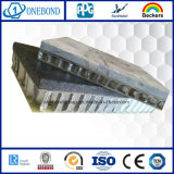 Painel de superfície preto do favo de mel da pedra da fibra de vidro para o revestimento da parede