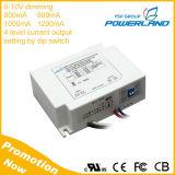 Approvazione 600mA 800mA 1000mA 1200mA cc 0-10V dell'UL che oscura il driver del LED