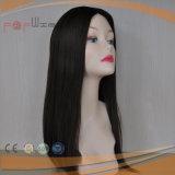 Parrucca ebrea superiore di seta della cuticola piena nera di colore, parrucca superiore delle donne della pelle