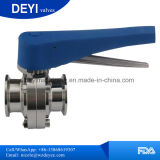 3A Acier inoxydable Sanitaire hygiénique Ss304 Ss316L Tri Clamp Butterfly Valve
