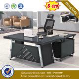 Form-Entwurfs-Metallfuss-GlasAngestellter-Büro-Tisch (HX-GD002)