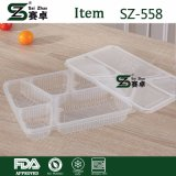 recipiente de alimento 4compartment plástico descartável com tampa