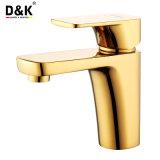 De Hete Edele Verkoop van uitstekende kwaliteit en Tapkraan van het Bassin van de Badkamers van het Handvat van de Kleur van de Luxe de Gouden Enige