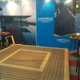 Decking antiderrapagem ao ar livre vermelho do composto 137 plásticos de bambu contínuos