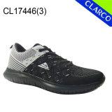 El acoplamiento de Flyknit se divierte los zapatos de la zapatilla de deporte de los hombres con la planta del pie del amortiguador