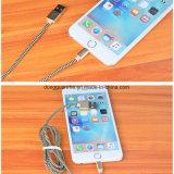 Mfi는 땋아진 알루미늄 면 직물로 iPhone를 청구하는 번개 USB 데이터 케이블을 증명했다